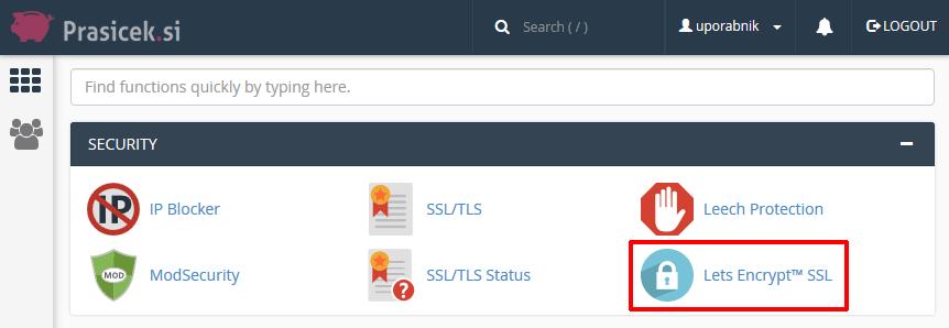 Let's Encrypt SSL certifikat