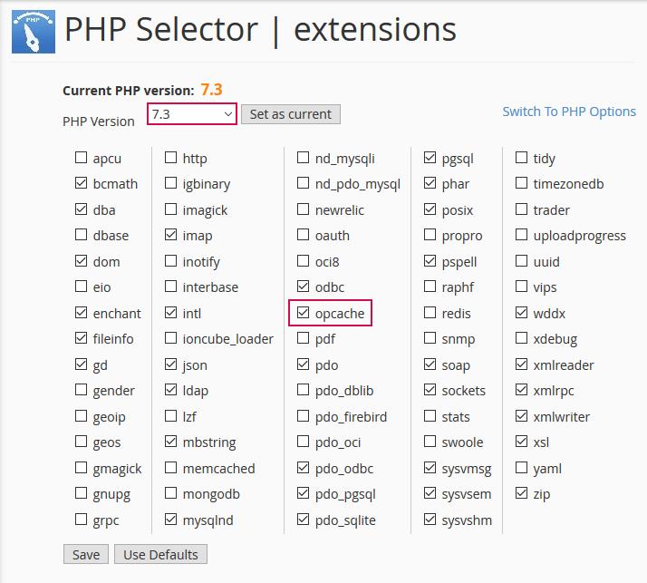 Izbira PHP verzije