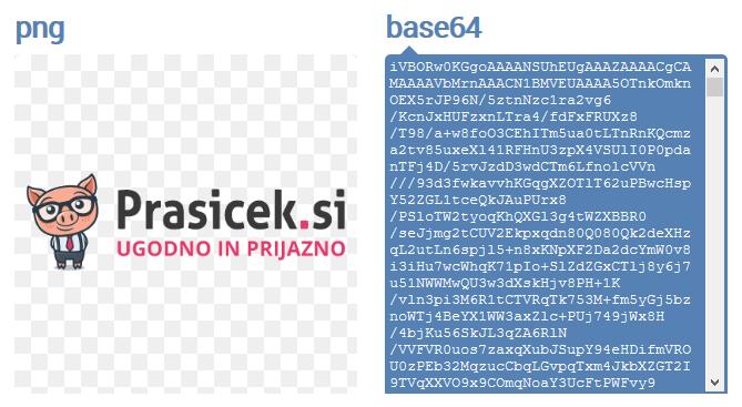 Pretvorba slike v base64