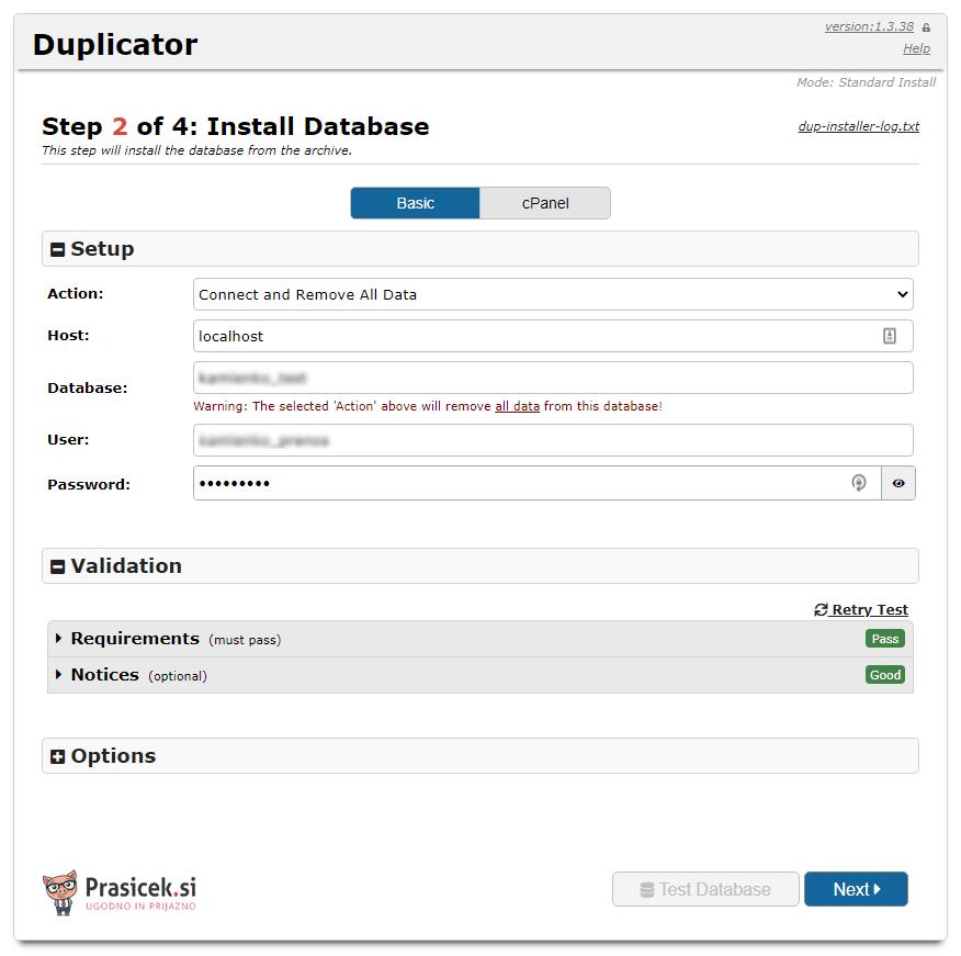 Postopek dupliciranja - korak 2