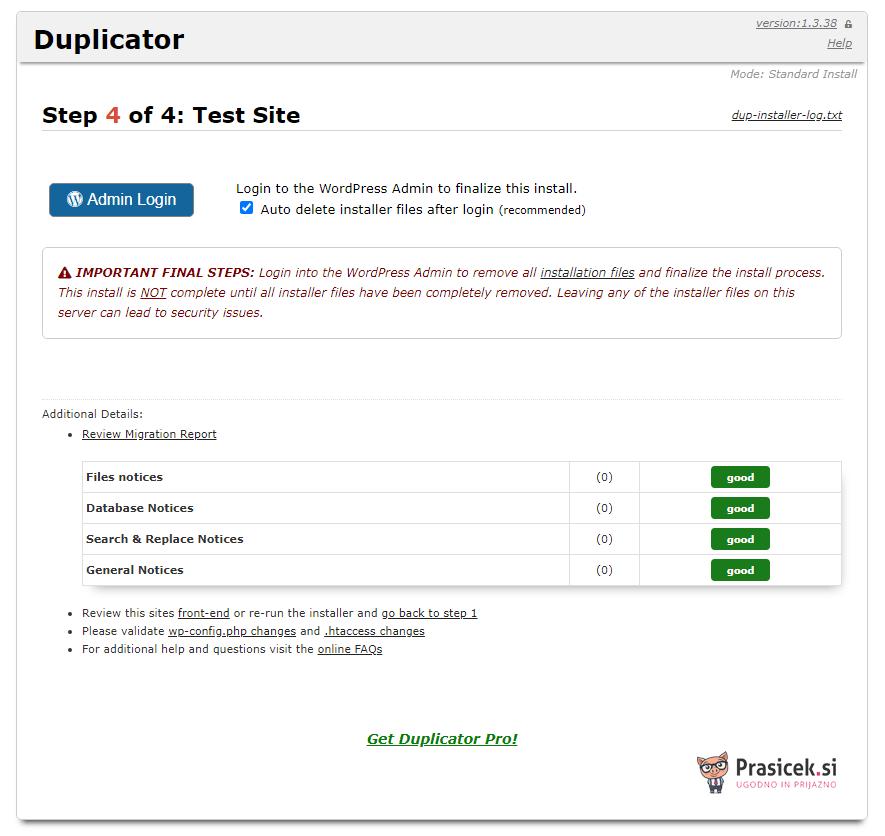 Postopek dupliciranja - korak 4