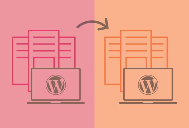 Prenos WordPress strani v med strežniki