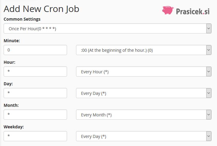 Frekvenca izvajanja Cron opravil