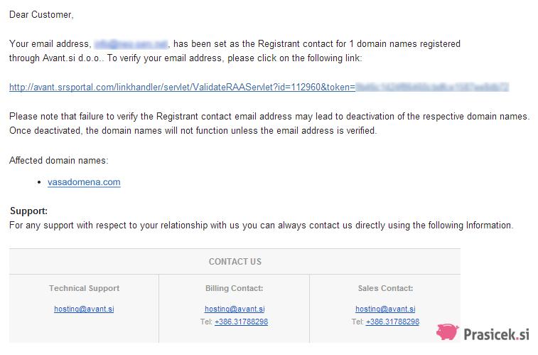 Verifikacija lastništva domene