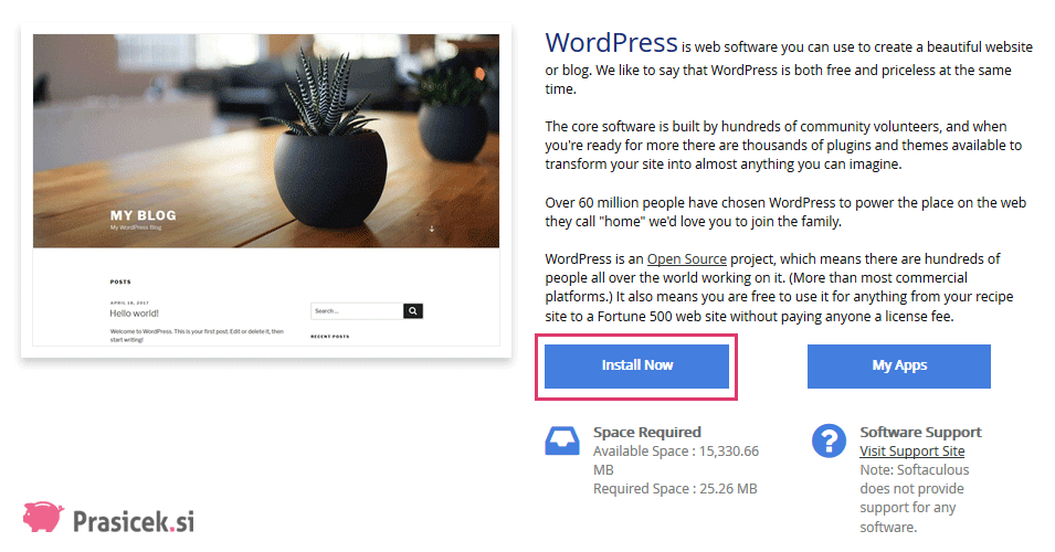 WordPress - Install Now