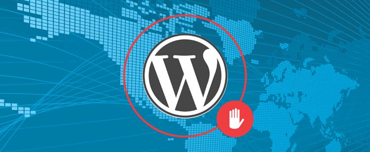 WordPress prijava - blokada tujine
