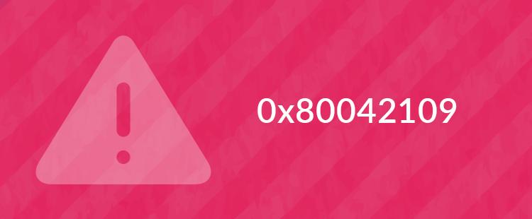 Outlook napaka 0x80042109