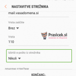 Android nastavitve - 5.korak