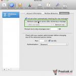 Mac Mail nastavitve - 2.korak