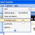 Outlook 2003 nastavitve - 1.korak