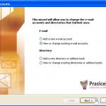 Outlook 2003 nastavitve - 2.korak