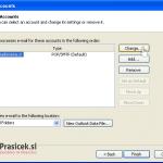 Outlook 2003 nastavitve - 3.korak