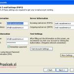 Outlook 2003 nastavitve - 4.korak