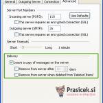 Outlook 2003 nastavitve - 5.korak