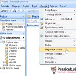 Outlook 2007 nastavitve - 1.korak