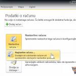 Outlook 2010 nastavitve - 1.korak