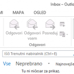 Outlook 2013 nastavitve - 1.korak