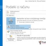 Outlook 2013 nastavitve - 2.korak