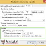 Outlook 2013 nastavitve - 5.korak