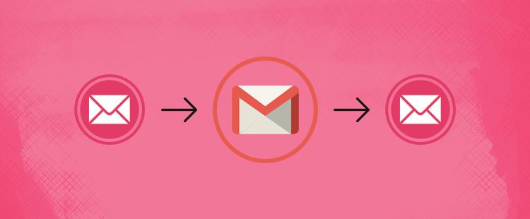 Dodajanje in preusmeritev e-mail računa v Gmail