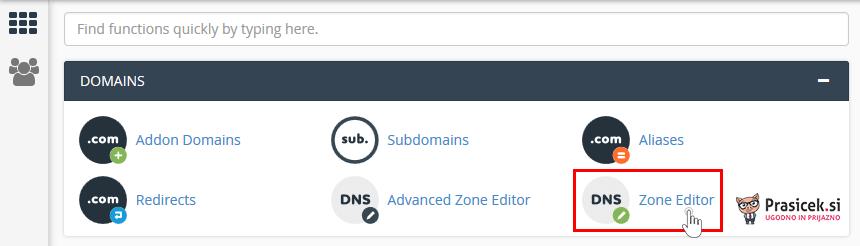 Zone Editor v cPanel