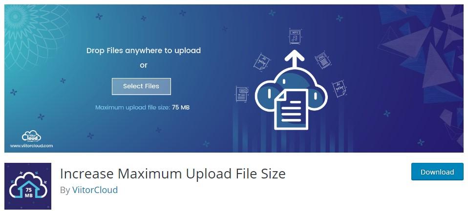 Vtičnik Increase Maximum Uload File Size